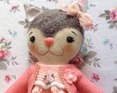 Phoebe the Kitten - Handmade Artist Doll