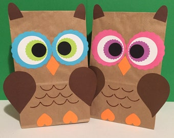 Owl birthday party/treat bags