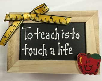 Teacher Gift  2714DC  To teach is to Touch a Life Supply Box