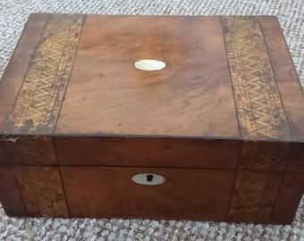 Large Antique Keepsake/workbox