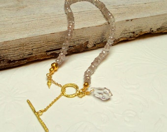 Bracelets - Gold Bracelet - Rutilated Quartz  Bracelet - 18k gold Bracelet - Seeds Collection - Free Shipping!!!