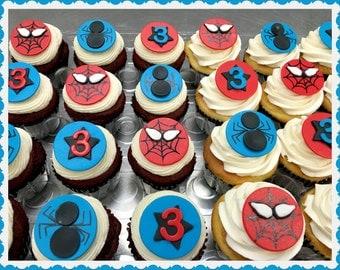 Spiderman Cupcake Topper