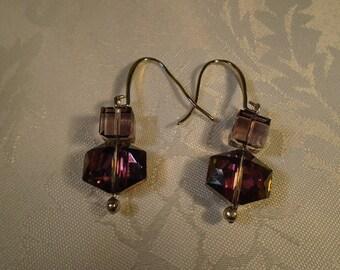 Pink Chocolate Orb Earrings