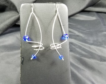 Blue Orbit Earrings