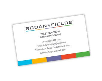 Rodan Fields Businss Card Front with Logo Colors