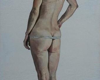 "Elisbar Oil on Wooden Panel, Original with COA, "" Ermira"""