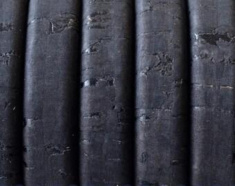 """8"""" Portuguese Cork Licorice Leather Black Color"""