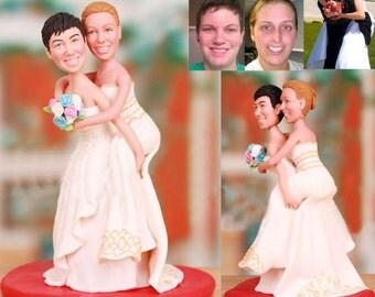 Lesbian wedding cake topper - Same sex wedding (Free shipping)
