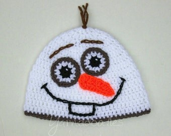 Crochet Baby Infant Toddler Enchanted Magic Snowman hat beanie