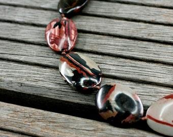 Indian Paint Jasper freeform beads (ETB00983)
