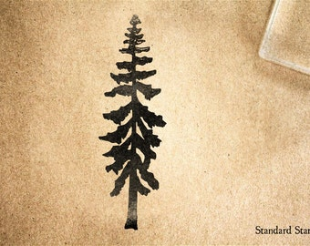 Redwood Silhouette Rubber Stamp - 2.75 inches tall