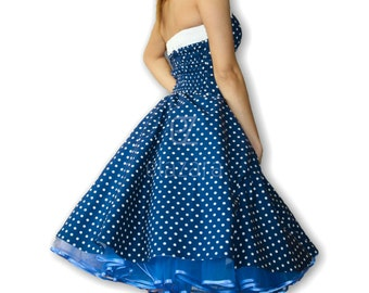 50s rockabilly...Pinup...Petticoat dress in purple/white