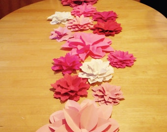 Paper flowers 7-8 inch