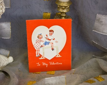 Vintage Valentine boy & girl 1920's-1930's