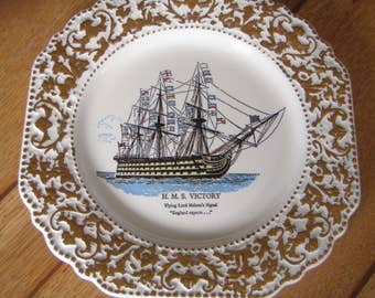 English Display Plate Lord Nelson H.M.S. Victory