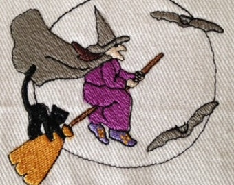 Halloween Witch machine embroidery design