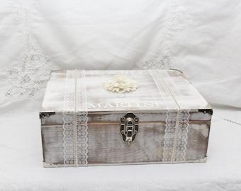 Wedding Box, Ceremony, Wine Box Wedding, Engraved Glasses, Ceremony Box, Wood Box, Memory Box, Wedding Keepsake Box, Wedding Memory Box