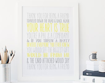 Golden Girls - Theme Song - Typography - Print