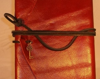 Red Handmade Leather Journal Made in the USA