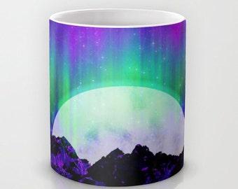 Under the Northern Lights, Ceramic Coffee Mug, Aurora Borealis, Arctic, Night Sky