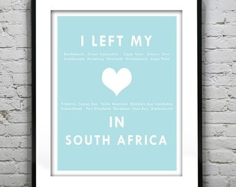 South Africa - Cape Town - I Left My Heart In South Africa - Poster Art Print