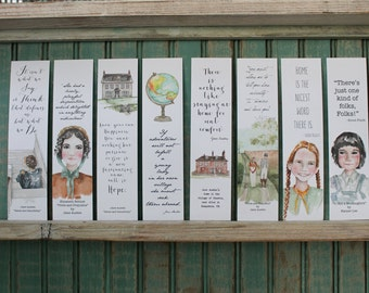 Literary Bookmarks - Elizabeth Bennett, Laura Ingalls, Jane Austen, Scout  Finch, Literary quotes, Pride and Prejudice, Mr. Darcy