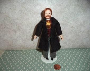 1:12 scale dollhouse miniature Porcelain Man doll