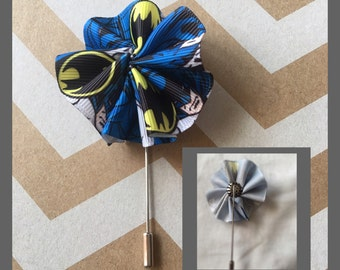 Batman lapel pin, batman boutonnière