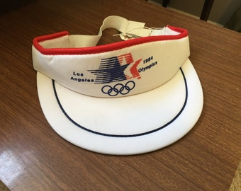 Vintage 1984 Los Angeles Olympics Red, White and Blue Visor