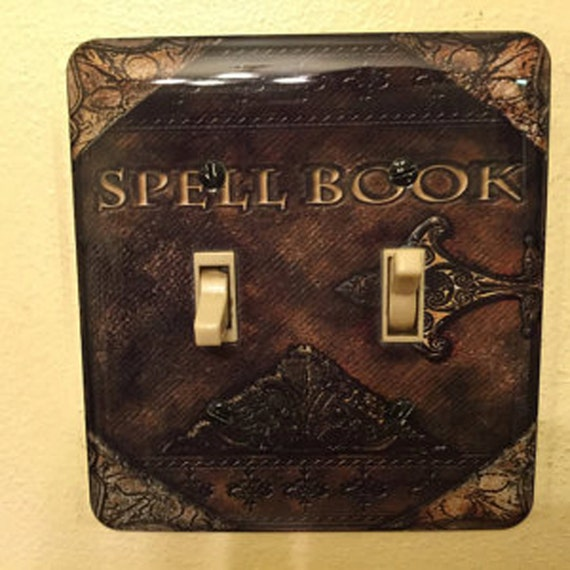 Metal Spell Book Light Switch Cover Spell Books By