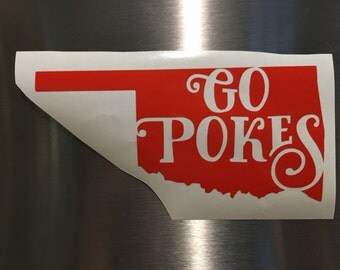 Go Pokes Vinyl    Car sticker    Decal