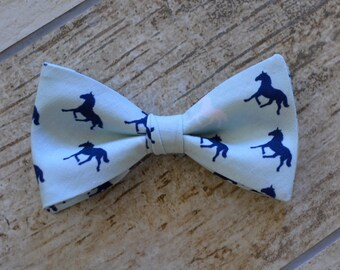 Men's bow tie/derby blue bow tie,derby bow tie,derby day bow tie,mint and navy blue