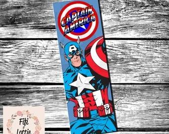 Captain America Bookmark Printable Instant Download