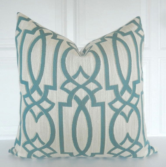 22x22 Throw Pillow Covers : Blue Pillow Cover Decorative Pillow 18x18 20x20 22x22