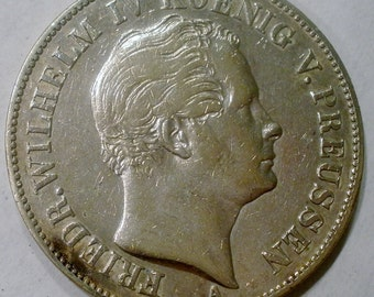1847 A Prussia Taler Mansfield Mining Taler Silver Coin Extra Fine (EF)