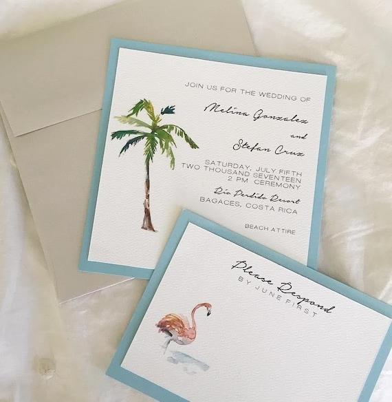 Items Similar To Paradise Wedding Invitation- Tropical