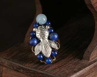 Ethnic blue rings