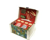 10% OFF Sale 1970s Sewing Box. Vintage Sewing Notions. Vintage Sewing Box.