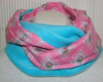 Infinity scarf fleece and cotton