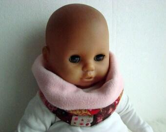 KU bis 53 cm, Loop aus Fleece, Patchworkstil scarf