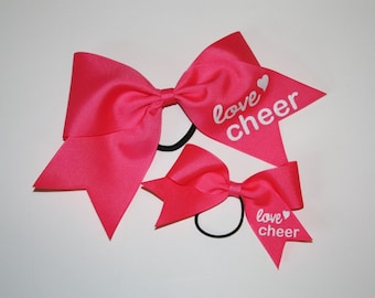 Cheer Bow Set- Dolly and Me- Neon Pink