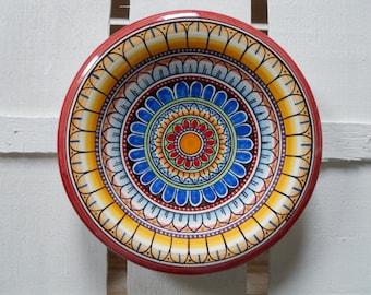 Ceramic plate/Wall Plate/Mandala