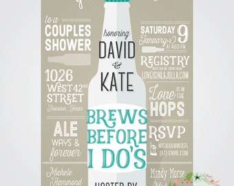 Brews Before I Do's // Couples Shower Invitation