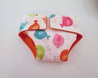 Waterproof Doll Diaper Birds