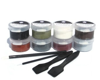 Monster Makeup Kit for Sensitive Skin Create Zombies Ghosts and Evil Fiends with 8 Vegan NonToxic Face Paint Colors