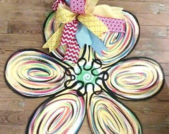 Daisy Door Hanger, spring door hanger, summer door hanger, Flower Door Hanger, wreath