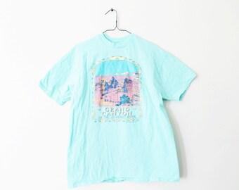 XLARGE Vintage 1988 Grand Canyon of the Colorado River Aqua Graphic T-Shirt