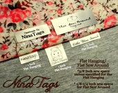 80 Custom Satin Clothing Labels - Sew-In Hanging or Flat Sew Around - Fabric Garment Tags - NinaTags
