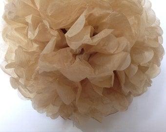 Beige-Golden Beige-Tan-DIY Tissue Paper- PomPom- Poms