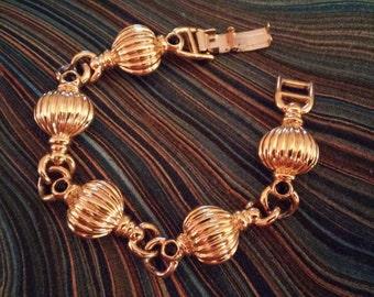 Gold vintage costume bracelet